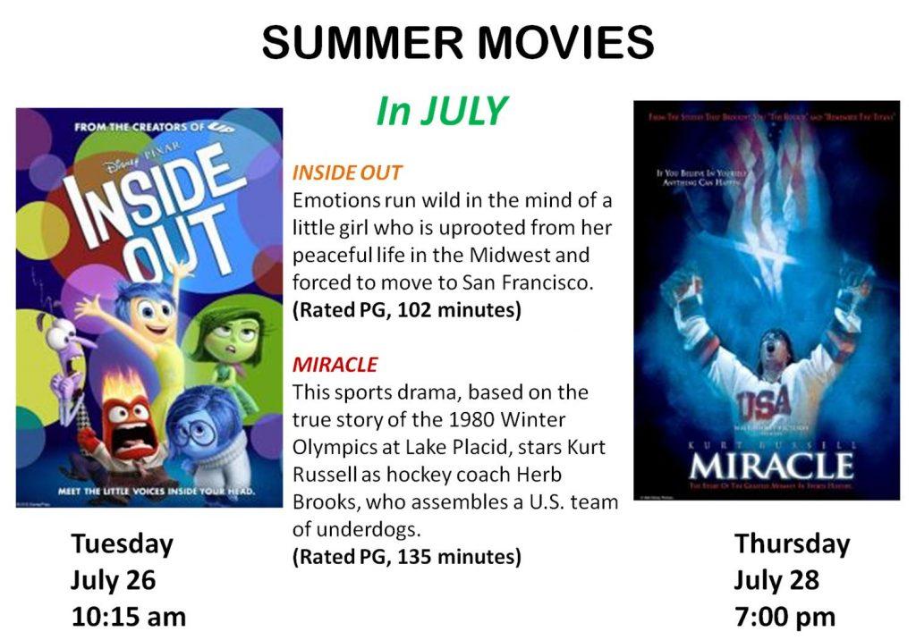 2016 July Movies